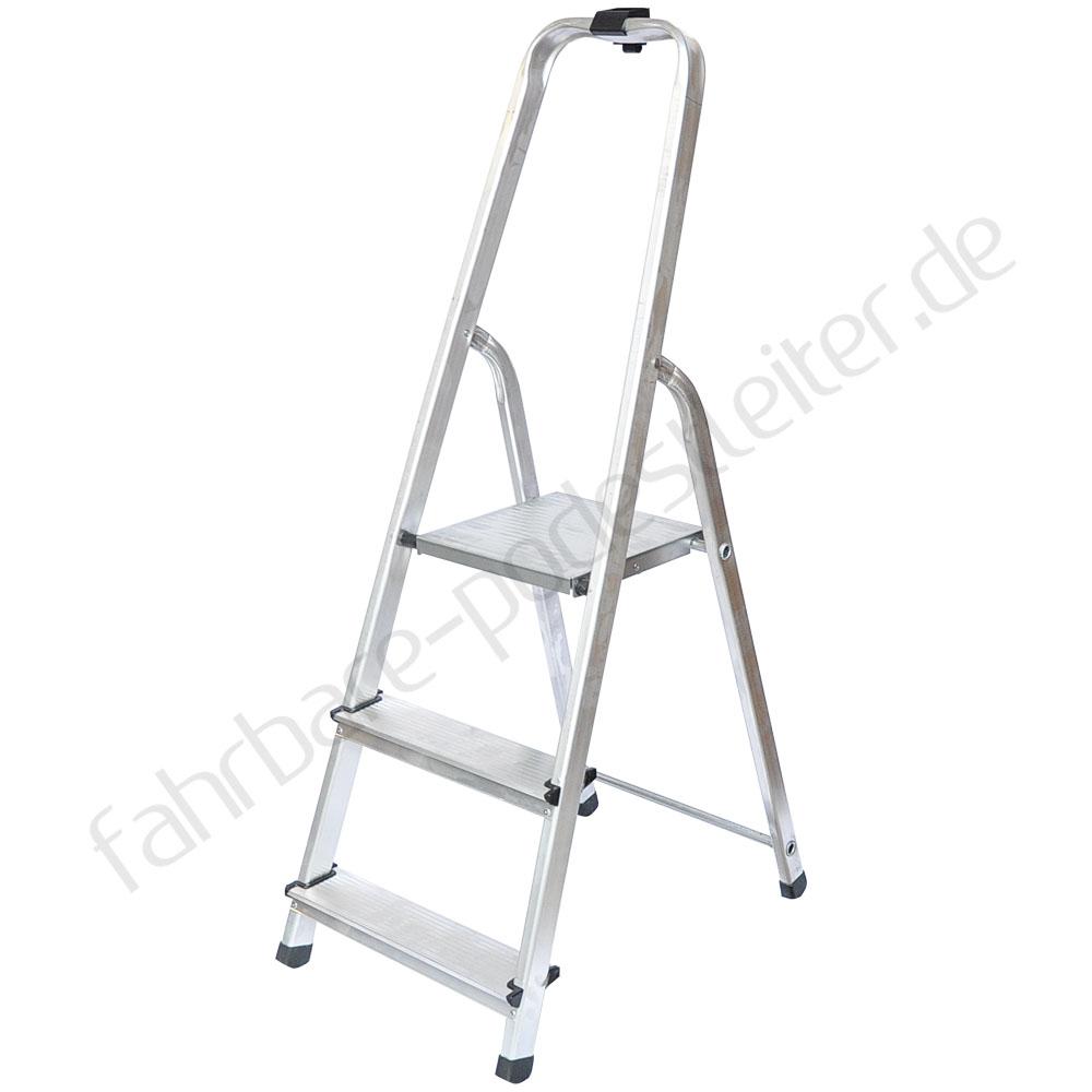 aluleiter klappleiter sprossen haushaltsleitern stehleiter 3 stufen 125kg ebay. Black Bedroom Furniture Sets. Home Design Ideas