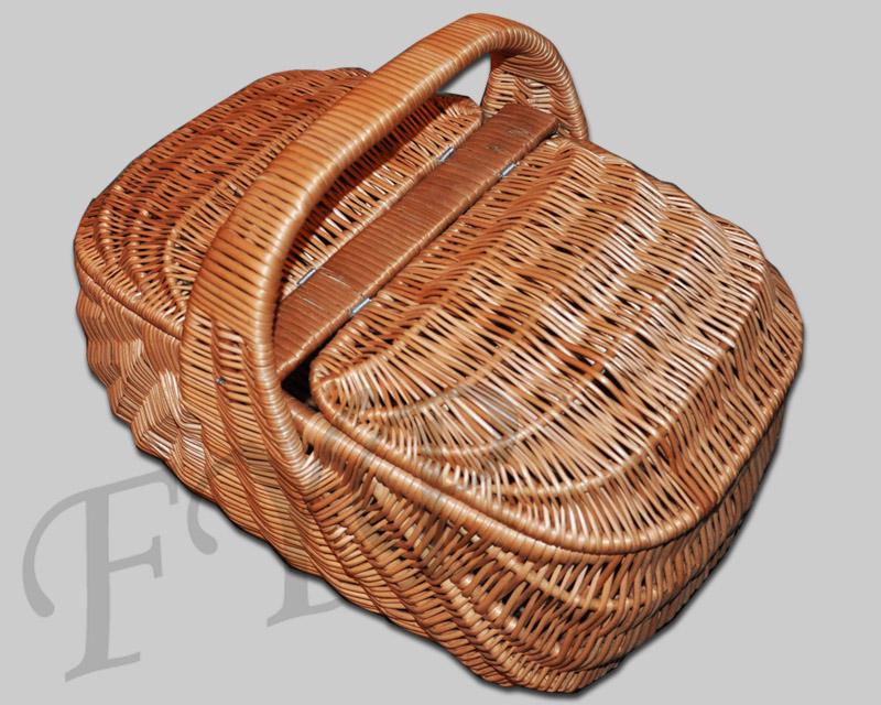 Picknickkorb mit Deckel Einkaufskorb Weidenkorb Weide Korb